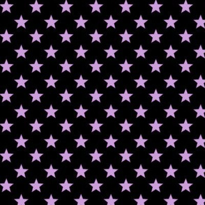 Large Purple stars on Black Background