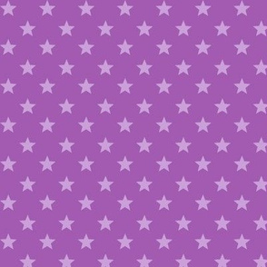 Large Light Purple stars on Medium Purple Background