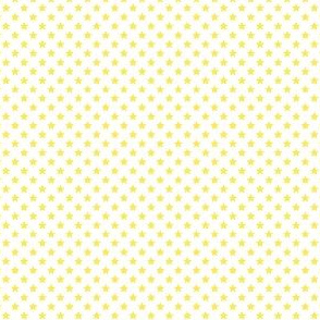 Small Yellow Stars on White
