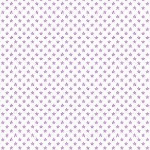 Small Purple Stars on White