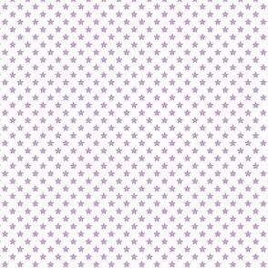 Small Purple Stars on White