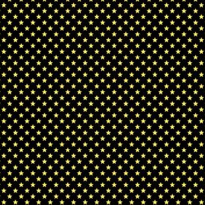 Small Yellow Stars on Black