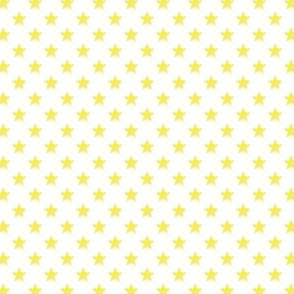 Large Yellow Stars on White