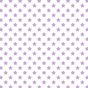 Large Purple Stars on White