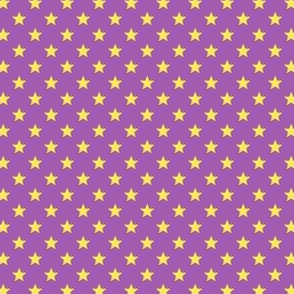 Large Yellow Stars on Mid Purple