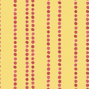 dot stripes in beetroot and yellow