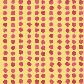dots! in beetroot on yellow