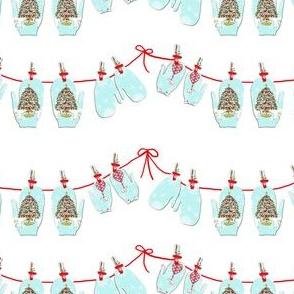 Christmas Mitten Garland-ch