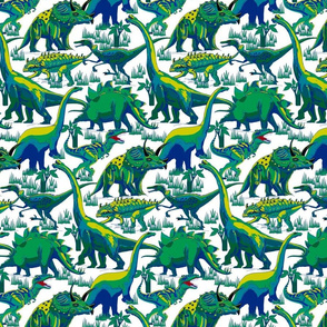 Dinosaurs Blue and Green.