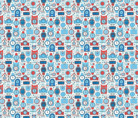 clocks blue colors
