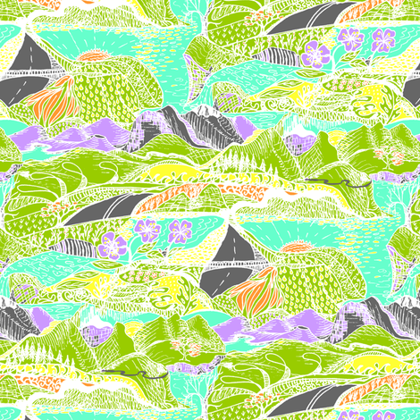 Hiking Through My Imagination - Tropical Colours - Small scale
