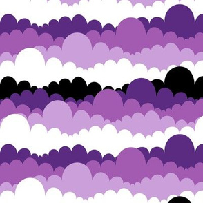 Purple Princes Clouds in Purple, White and Black