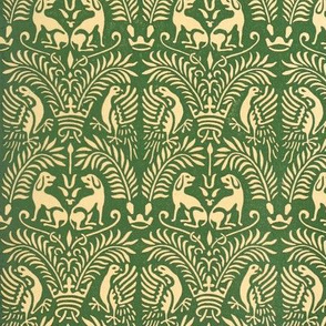 Hounds Antique Damask