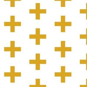 golden yellow cross plus