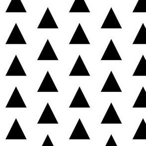 triangle white black