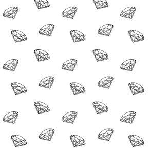 Black diamonds on white small
