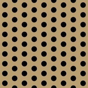 gold glitter black polka dots