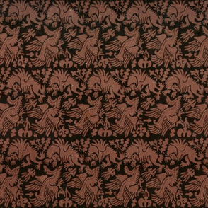 Phoenix and Griffin antique damask