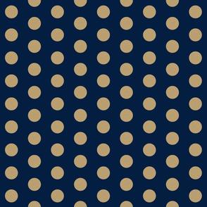 gold glitter navy polka dots