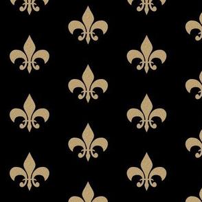 gold glitter black fleur de lis