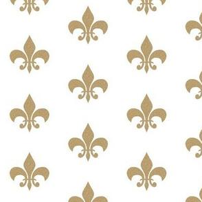 gold glitter fleur de lis