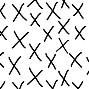 x messy swedish scandi black and white x o handdrawn painted designer