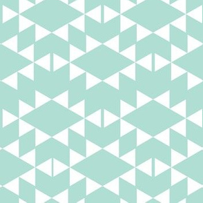 mint white aztec triangles