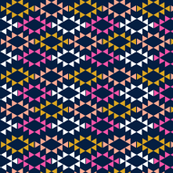 navy magenta golden yellow aztec triangles