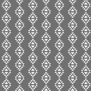 charcoal aztec triangles