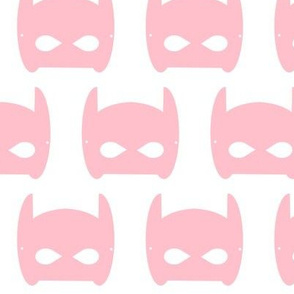 bat mask superhero - pink - large
