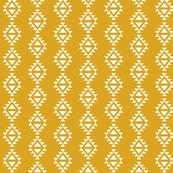 golden yellow aztec triangles