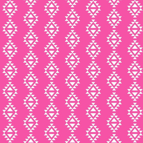 magenta aztec triangles
