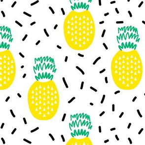 pineapple fruit summer tri tyg kangas design minimal kids design