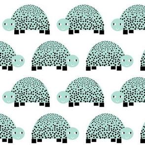 turtle funny happy animal mint pastel swedish modern minimal design