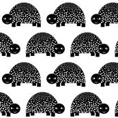 turtle black and white minimal monochrome kids modern swedish animal design