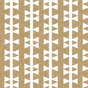 gold glitter white triangle stripe