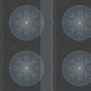 Retro Modern Snowflakes by Friztin