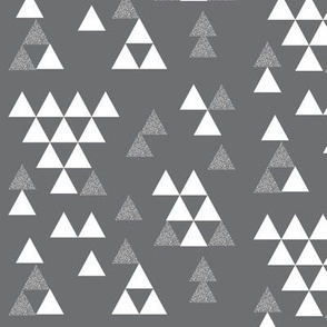 charcoal silver glitter triangle town