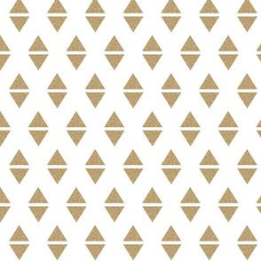 gold glitter triangle
