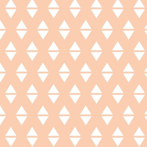 blush white triangle