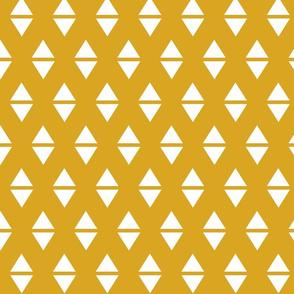 golden yellow white triangle