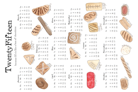 2015 Chocolates calendar FQ Kit