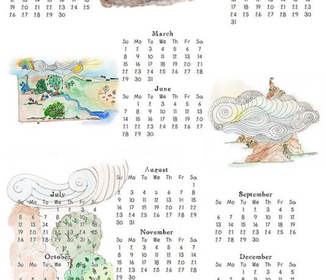 2015 Landscapes calendar FQ Kit