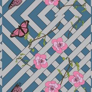 Butterflies On Trellis