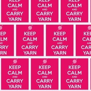 Keep Calm Carry Yarn Crochet - watermelon panel