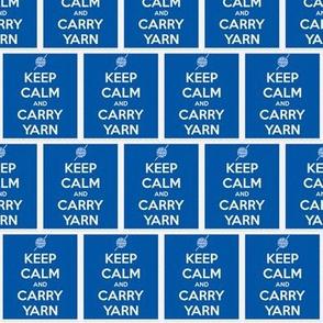 Keep Calm Carry Yarn Crochet - denim panel