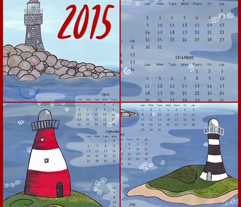 I want to marry a lighthouse keeper - 2015 Calendar Tea towel