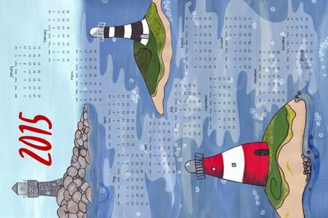 I want to marry a lighthouse keeper - 2015 Calendar Tea towel