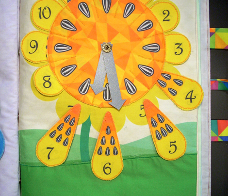 Sunflower clock for kids