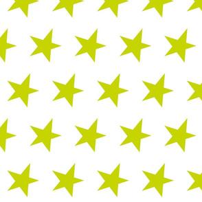 green star on white